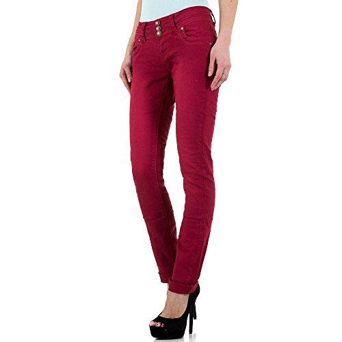 Used Look Low Skinny Jeans Für Damen bei Ital-Design Rot
