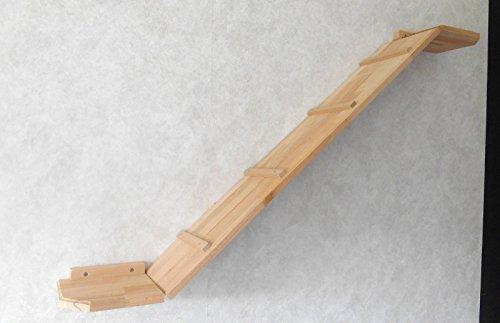 Katzen Wandpark, handgefertigte Tiermöbel / Luxusmöbel, Katzenmöbel in vielen Ausführungen, Kratzbaum / Katzenbaum für die Wand. Hier: Winkelbrücke 150 x 20 cm (12W13)