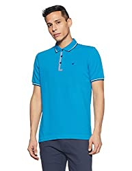 blackberrys Mens Printed Slim Fit T-Shirt (ETCC0392B3MS18FL38_Cobalt Blue)