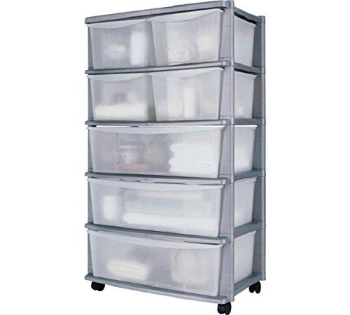 Aufbewahrungsschrank auf Rollen mit 7Schubladen, Kunststoff–131Liter 7 Kunststoff Schubladen