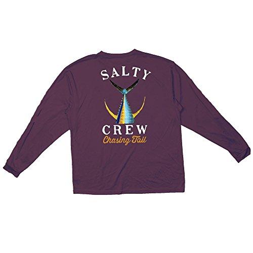 Salty Crew Tailed Long Sleeve Tech Tee - rot - Medium -
