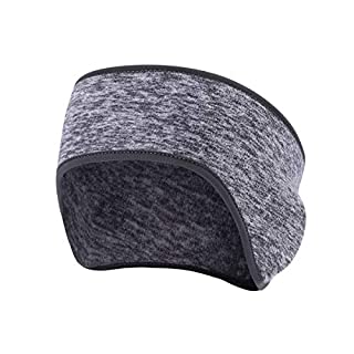 Fleece Ear Warmers/Earmuffs Headband for Men & Women Kids Perfect for Winter Running Yoga Skiing Work Outdoor Sport in Cold and Freezing Days - Gray