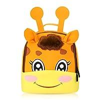 Kids Cartoon Backpack Little Tiger Nursery Children Kids School Bag Neoprene Embroidery Cute Cartoon Giraffe Padded Adjustable Shoulder Straps Waterproof Breathable Protecting Spine Alleviating Burden