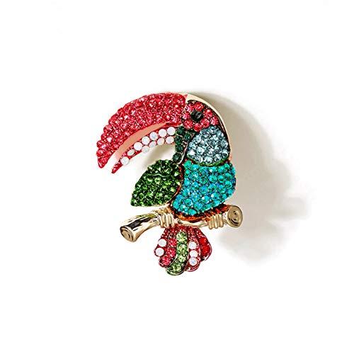 Broschen Und Vintage Kostüm Pins - CCJIAC Vogel Strass Brosche Für Frauen Vintage Kostüm Broschen Und Pins Kristall Pin Schmuck Kleidung Zubehör