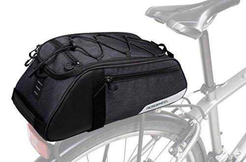 Roswheel Essentials Serie 141466Fahrrad Trunk Bag Fahrrad Hinten Rack Pack Radfahren Zubehör, Paar 8L Kapazität (Bag Radfahren Rack)