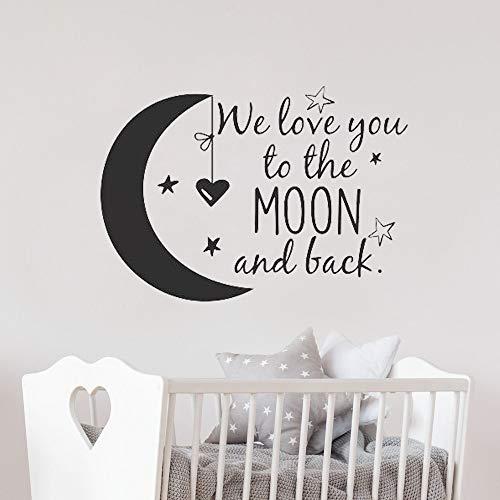 ch zum Mond und zurück Wandtattoo Kinderzimmer und Mond und Wandtattoo Kinderzimmer Dekor Ideen Kinderzimmer G90 42 * 30cm ()