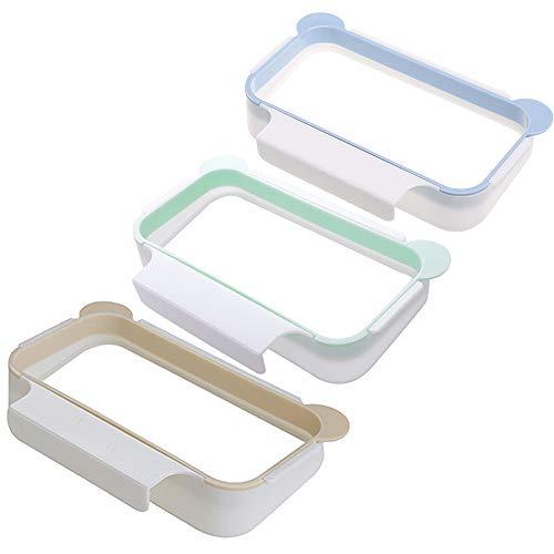 Limeo Trash Rack Storage Garbage Bag Halter Kunststoff Schrank Trash Rack für Küche Müllsäcke Hängen Halter Müllsack Halter Müllsackhalter Hängend Taschen Trash-Rack(Grün, Blau, Orange) (Garbage Bag Storage)
