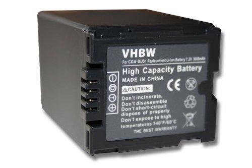 vhbw Li-Ion Akku 3000mAh (7.2V) für Videokamera Camcorder Panasonic NV-GS22, NV-GS27, NV-GS30,...