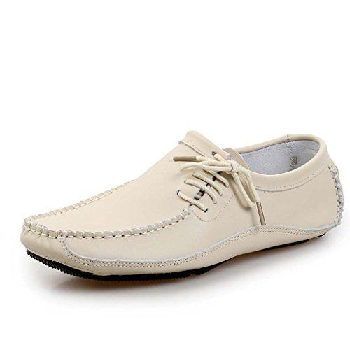 ZXCV Scarpe all'aperto Scarpe casual uomo scarpe in pelle prima strato di scarpe in pelle Beige
