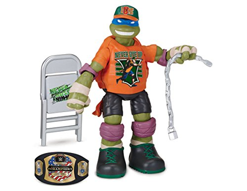 Teenage Mutant Ninja Turtles Turtles WWE Mash Up Action Figuren Leo als John Cena (Wwe Action-figur Waffen)