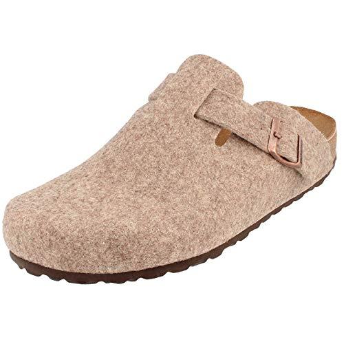 BONOVA Wesel Hausschuhe Herren Damen beige Gr. 44 - Schuhe Clogs Sandalen Herrenschuhe Pantoletten Slipper Latschen 35 36 37 38 39 40 41 42 43 44 45 46 47 48 49 50