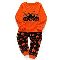 Kids Pyjamas Sets 100% Cotton Halloween Party Costumes Toddler Ghost Bottom Top Set Pumpkin Pjs Sleepwear for Children Boys Girls
