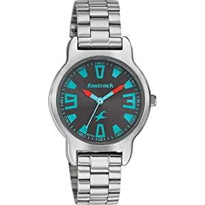 Fastrack Grey Dial Analog Watch For Women-6127SM01