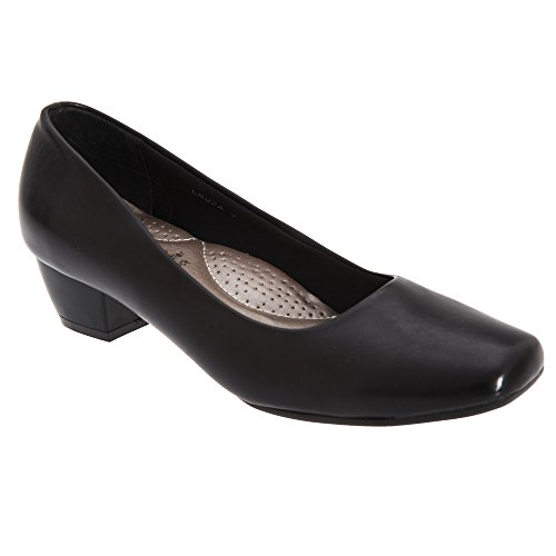 Boulevard Womens/Ladies Low Heel Plain Court Shoes (5 UK) (Black)