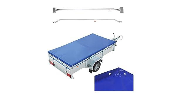APT Anh/änger Flachplane Blau Gummigurt 2575 x 1345 x 50mm inkl 2X Flachplanenb/ügel