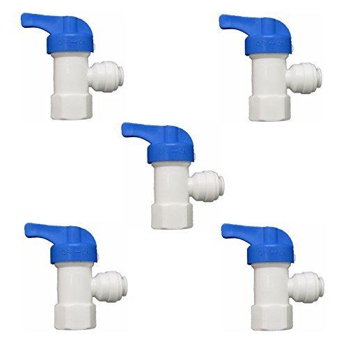 2-tank-system (Kugelhahn für rolemoy Wasser Tank 1/10,2cm Umkehrosmose Wasser Filter System Pack von 5)