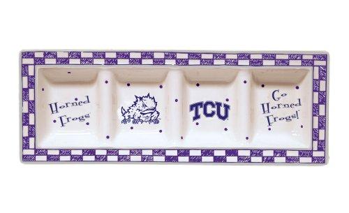 Memory Company Texas Christian gehörnten Frösche Gameday Relish Tablett Keramik Relish Tray