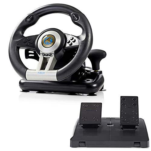 Combusters Racing Wheel Lenkrad Pc Computer mit Pedalen und Schaltung - Racing Rallye Räder