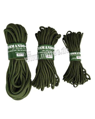 Mil-Tec Commando Cuerda de 15m Verde