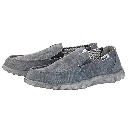 Dude Shoes Men's Farty 2 Canvas Convertible Slip On/Mule Grey Grey