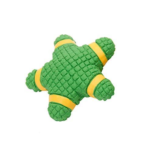 Spielzeug für Haustiere/Skxinn Pentagramm Form Haustier Hund Spielzeuge Kauen Beißen Star Molar Ausbildung zum Klein Haustier Vorräte Clearance(Grün,14.3X13.5X4.8 cm) -