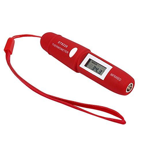 Quici rojo Mini sin contacto IR láser termómetro infrarrojo LCD Medidor Digital de temperatura Pen...