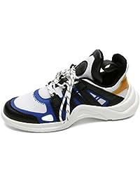 Hombres Bomba Transpirable Malla Zapatos Casual Sport Zapatos Encaje hasta Snekers Ligero Aire Cojín Fitness Zapatos UE Tamaño 39-44,Blue,40