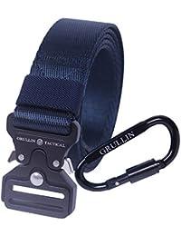 """GRULLIN Heavy Duty Men Tactical Rigger MOLLE Belt Quick Release Mini Hebilla de metal Compacto Militar 1.26"""" Web Nylon Deporte al aire libre EDC CQB Operador Banda de cintura"""
