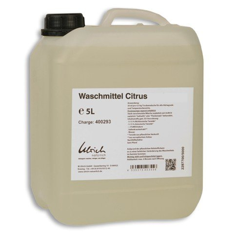 Natürliche Waschmittel (Ulrich Waschmittel Zitrus flüssig-5000ml)