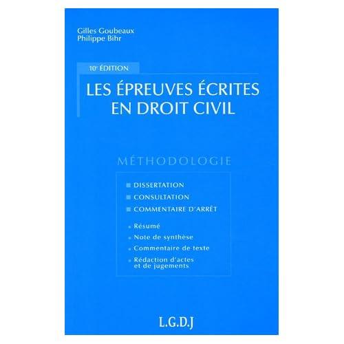 Les épreuves écrites en droit civil