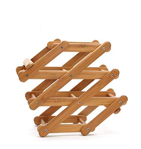 Leizhi Creativo Moda Pieghevole Photo Frame Vino Rack Vino Rack Bamboo Legno Decorazione Casa Europeo Vino Rack personalità Creativa