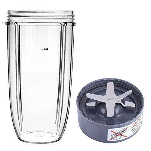 Poweka Ersatzteile für Nutribullet 600/900 W, 32 OZ Becher Tasse und Klingenbasis aus Edelstahl, Entsafter Zubehör