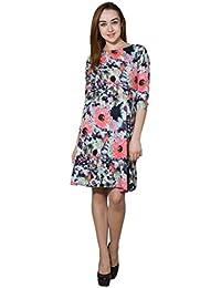 Panit Sea Green & Multi Printed Crepe Dress