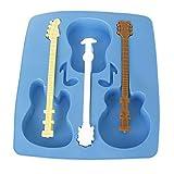 Deanyi Gâteau moule guitare acoustique moule Chocolatier gâteau Ice Plateau Party Jelly gel silicone moule de cuisson Produit Pièces Pour Instruments