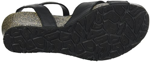 PANAMA JACK Damen Vika Basics Offene Sandalen mit Keilabsatz Schwarz (Black)