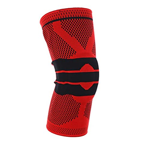 Duang® genou manches support léger genou protection manches pour le cyclisme, Basketball, course à pied, randonnée et d'autres sports, Red