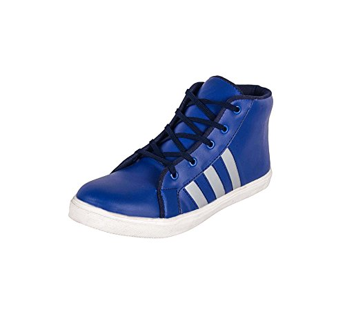 Ryko Men's Blue Designer Casual Synthetic Leather Lace-Up Boots Size:- 9  available at amazon for Rs.299