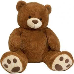 intertoys ours en peluche 135cm brun jeux et jouets. Black Bedroom Furniture Sets. Home Design Ideas
