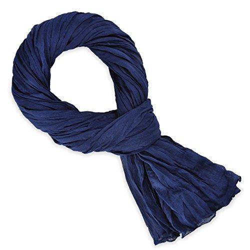 5a7c0750da61 Chèche Écharpe Foulard Femme Homme Très Doux et Long 185 x 110 cm -  Plusieurs couleurs disponibles (bleu marine). EAN 3274590212649
