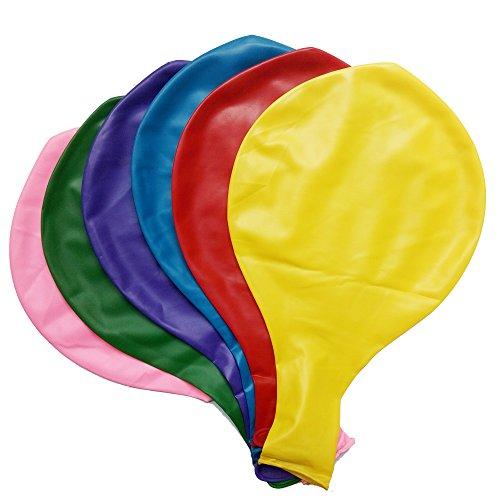 Baanuse Globos gigantes 36' en colores variados 6pcs