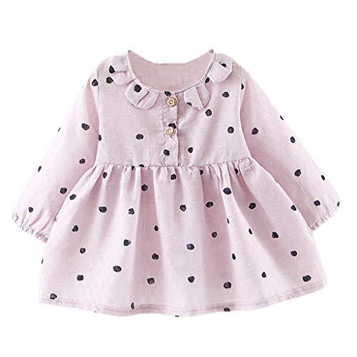 KIMODO Kleinkind Baby Mädchen Kleid Liebe Drucken Kleider Langarm Party Urlaub Prinzessin Sommerkleid Outfit ()