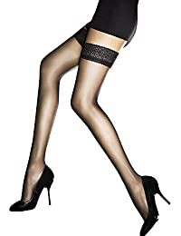 Fiore Luxury Super Fine 8 Denier Sheer Hold Ups - Available in Black, White or Natural