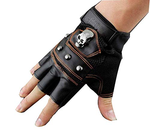 elett Muster Motorrad Leder Outdoor Mann Handschuhe Fingerlos Fahre ()