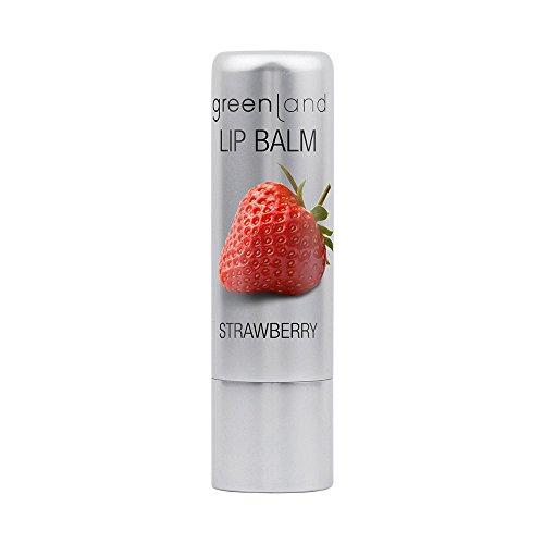 Greenland Lippenpflege Erdbeer | Lippenpflegestift mit Kakaobutter, Jojobaöl & Bienenwachs |...