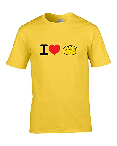 Ice-Tees I Love Pie- Cornish, Meat, Chicken, Cheese & Onion Pastry Loving Mens T-Shirt from