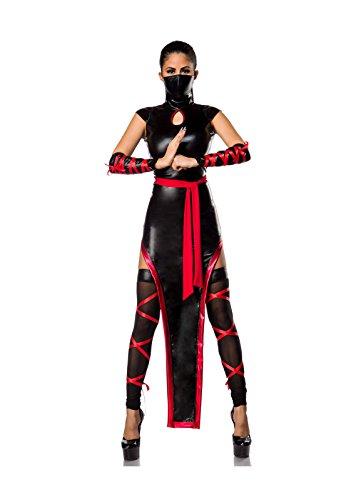 Hot Ninja Komplettset von Mask Paradise M (80's Kostüm Beinstulpen)