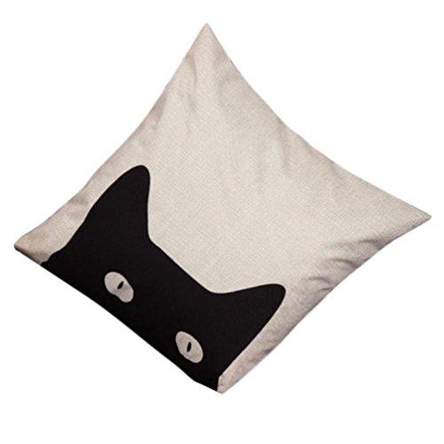 Viahwyt Baumwolle Leinen Kissenbezug Geometrisch Dekorative Dekokissen Fall Sofa Platz Zuhause Decor Kissenhülle 45cmX45cm (I)