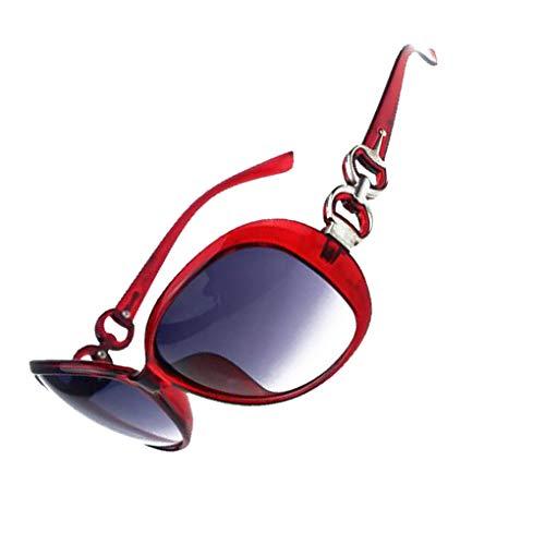 Provide The Best Frauen-Quadrat-Rahmen-Sonnenbrille Mädchen doppelte Ring dekorative Gläser Anti-UV-Sonnenbrille-Geschenk