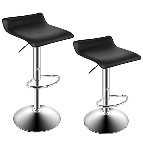 cravog-2pcs-bar-stool-chair-swivel-seat-adjustable-height-counter-chrome-furniture