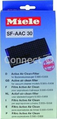 Miele SF-ACC 30 Staubsaugerfilter / Abluftfilter, mit Aktivkohle-Schicht, gegen unangenehme Gerüche, für Modelle S 300 - S 456 / S 500 - S 658 / S 700 - S 858 / S 2120 - S 2180 / S 7510 - S 7580 Kassette absorbiert Gerüche aus dem Staubsaugerbeutel auf und verhindert Ausbreitung unangenehmer Gerüche (Spezifikationen: Aktivkohle-Filter; Anti-Gerüchsfilter; von Miele)